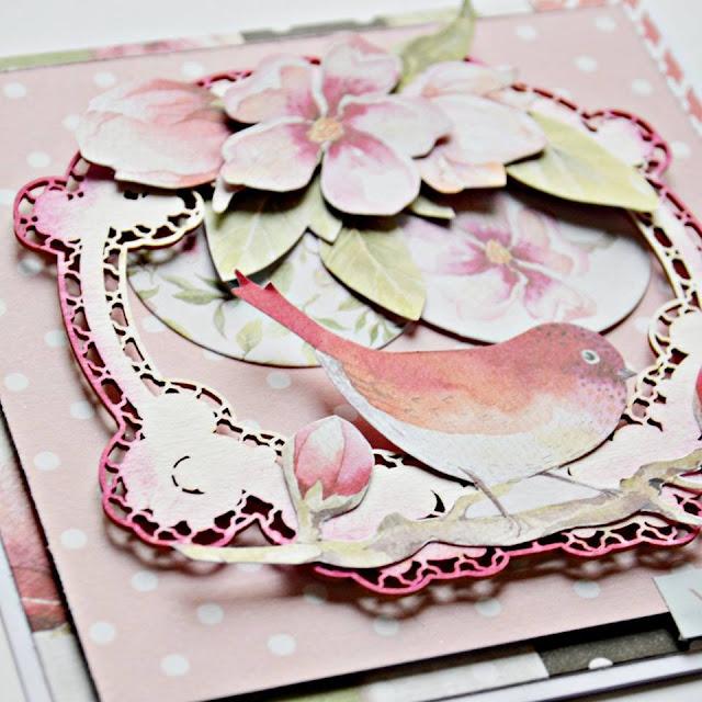 detale kartki- kwiaty, wycinanki, tekturki