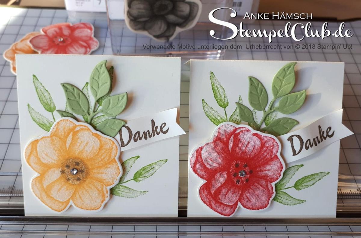 Kleine Grußkarte mit dem Produktpaket Painted Seasons von Stampin up