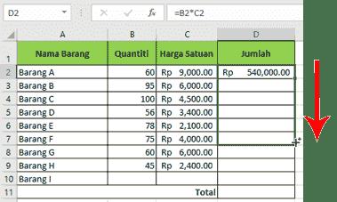 klik-tahan-seret-fill-handle-menyalin-formula