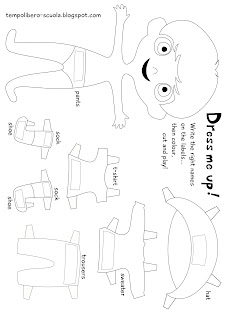 tempo libero: Dress me up-english learning with a paperdoll...