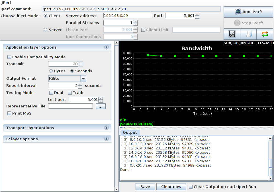 My Home Lab: Measure network performance with Iperf/JPerf