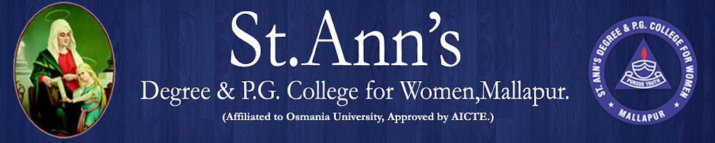 St.Ann's Degree & PG College for Women