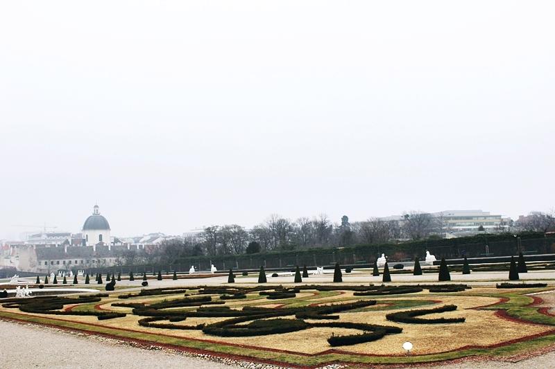 Belvedere Palace Gardens Vienna Belvedere vrtovi