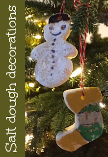 Salt dough Christmas tree ornament decorations