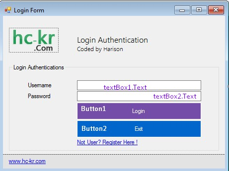 C# login & Registrations form with MySQL and MD5 Password - SCode