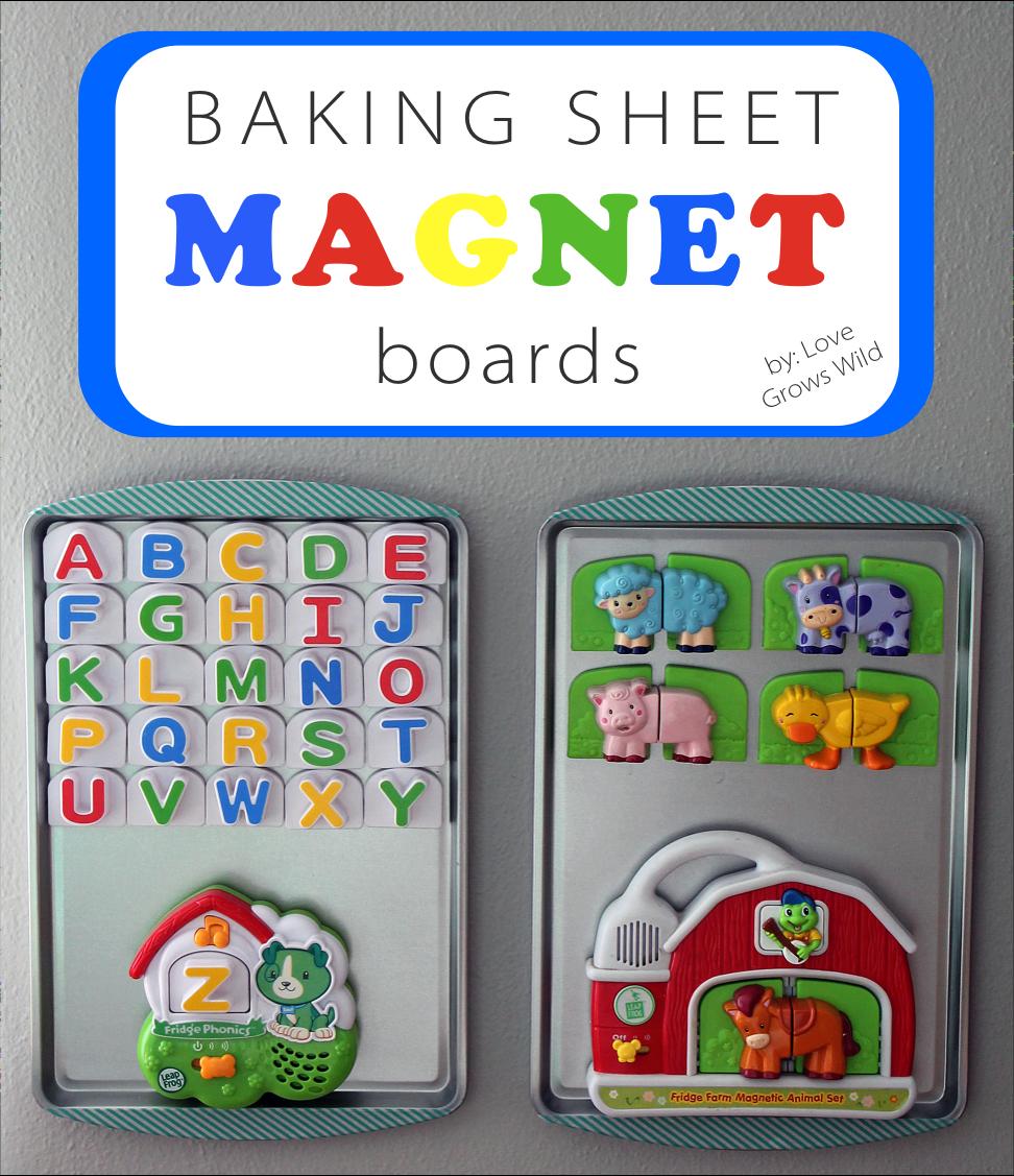 Baking Sheet Magnet Boards Love Grows Wild