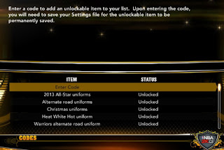 NBA 2K13 Unlock All Jerseys / Uniforms - PC, XBOX 360, PS3