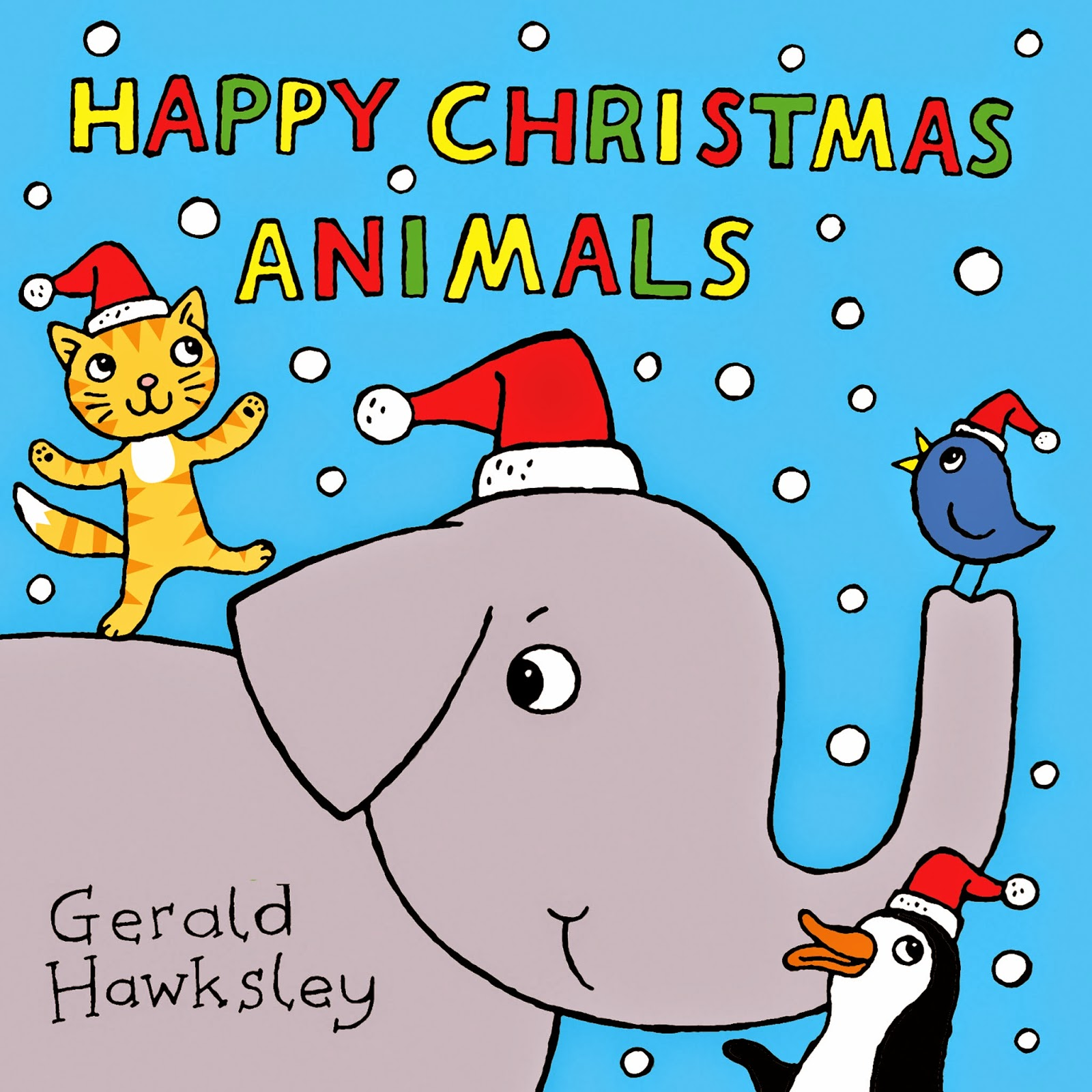 cover image for happy christmas animals kindle ebook