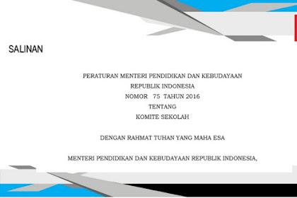 Permendikbud Tentang Komite Sekolah Dalam Penggalangan Dana Untuk Sekolah