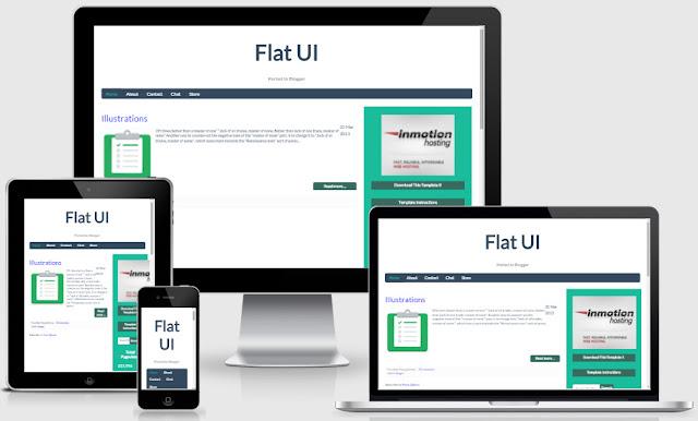 FlatUI New Responsive Blogger Templates
