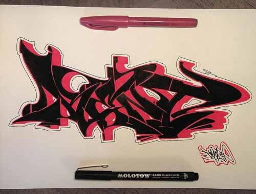 30 Gambar Tulisan Graffiti Keren Di Kertas Grafis Media