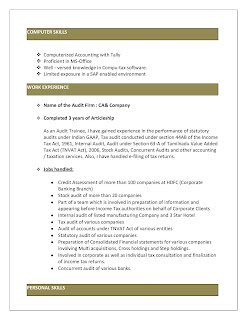 Experienced Articleship Resume 2