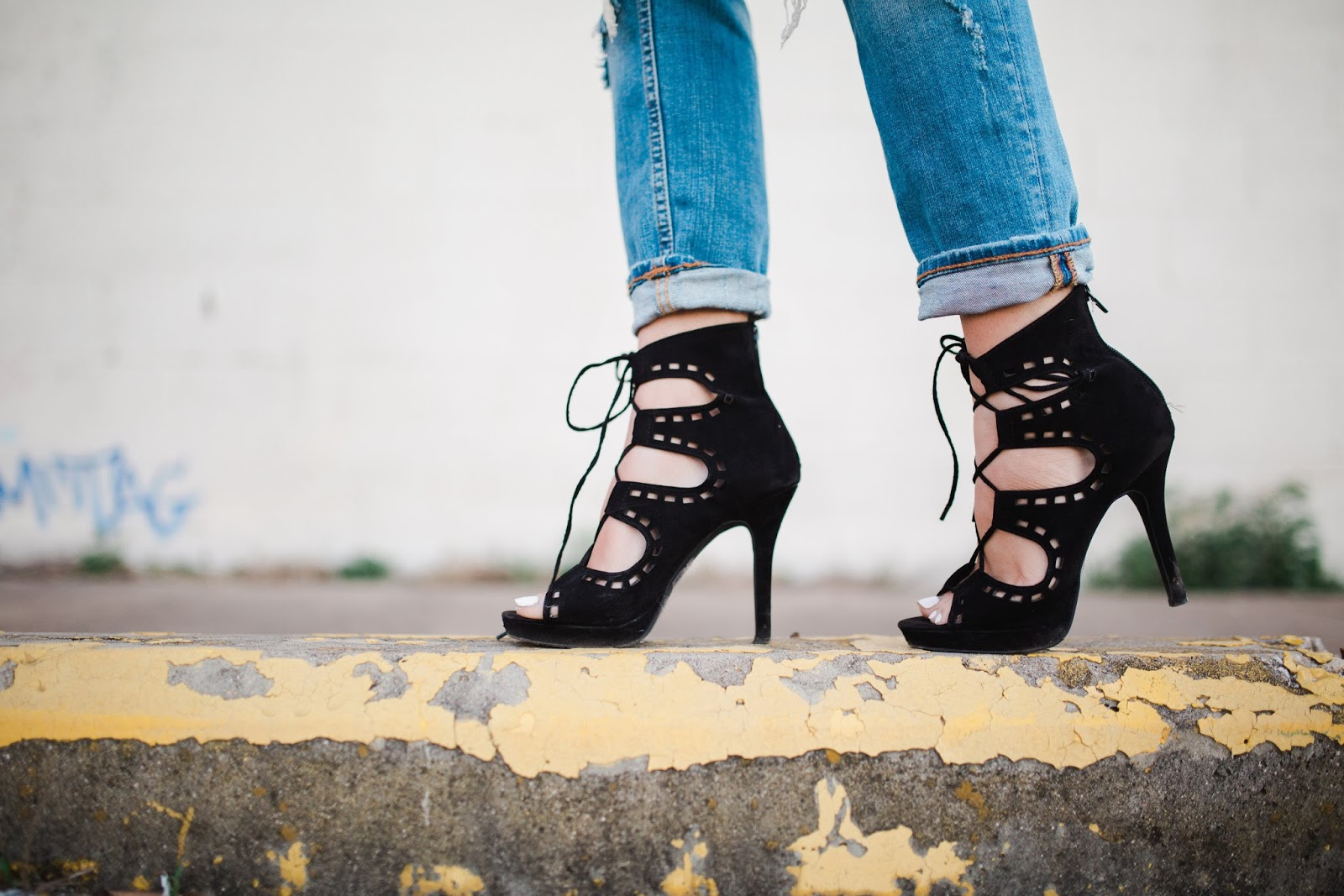 Forever 21 Black Lace-ups - My Cup of Chic