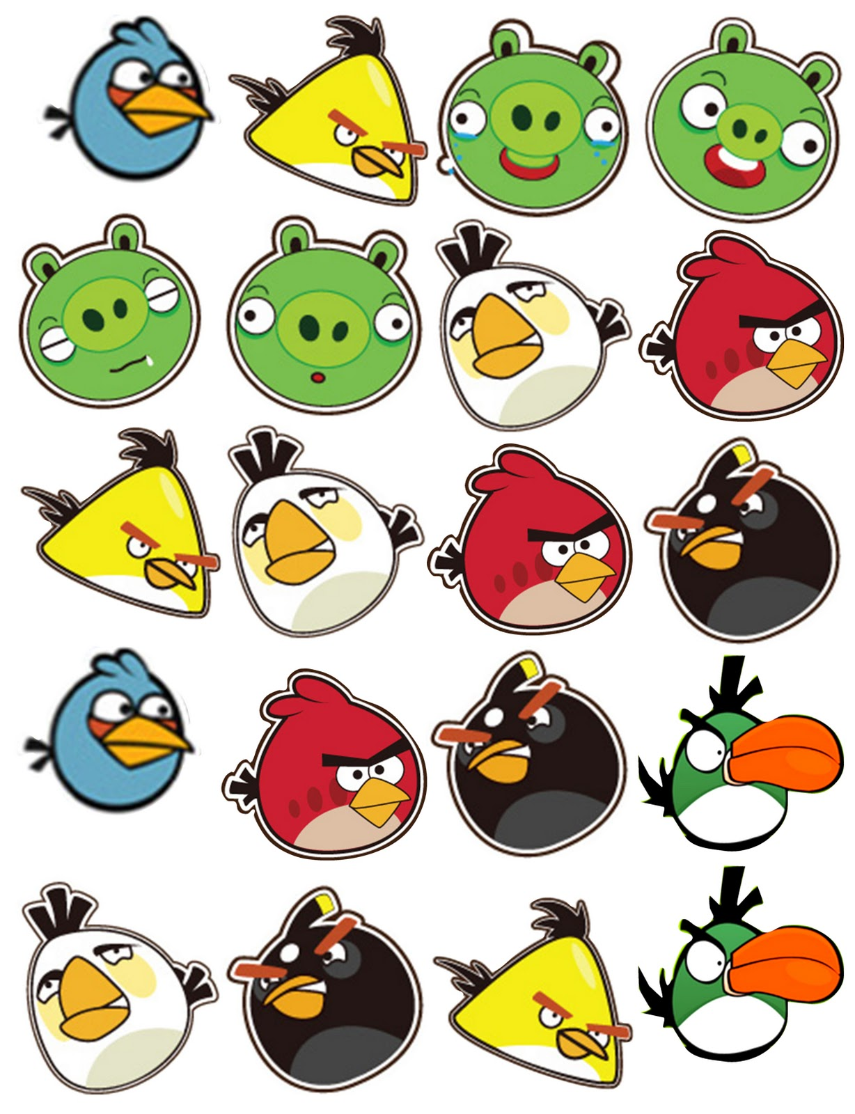Epic image in angry bird printable