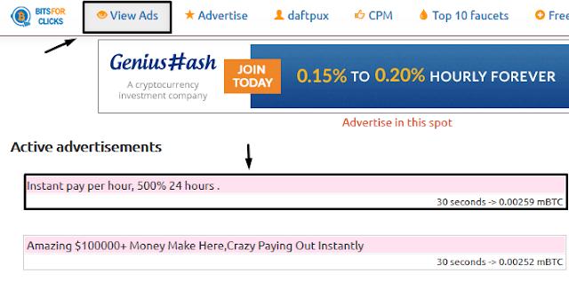 ver anuncios bitforclicks