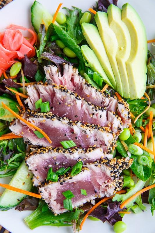 recipe: pan seared tuna with wasabi sauce [9]
