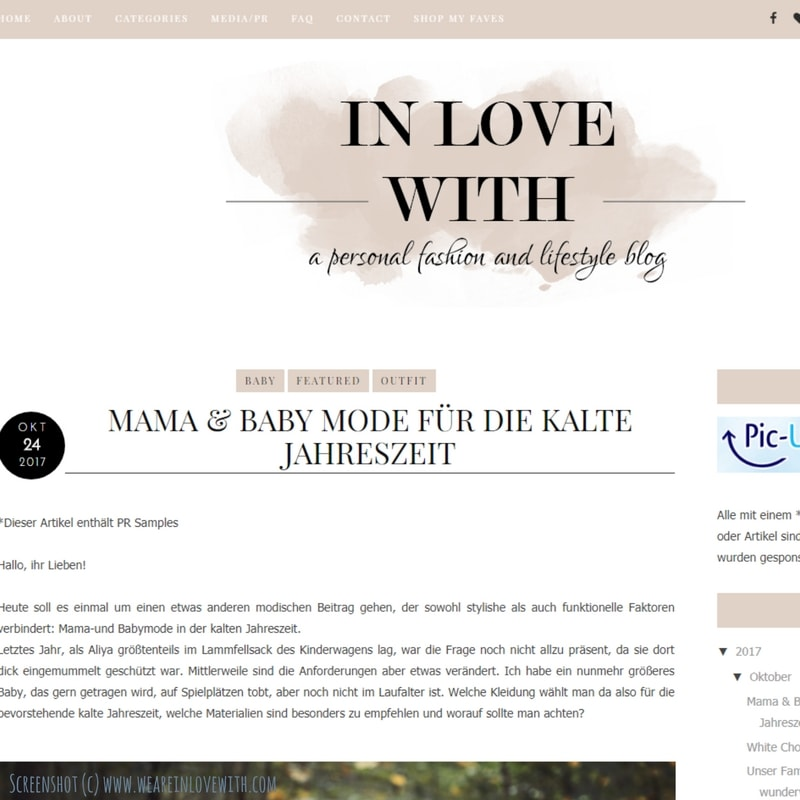 Screenshot Blog Inlovewith
