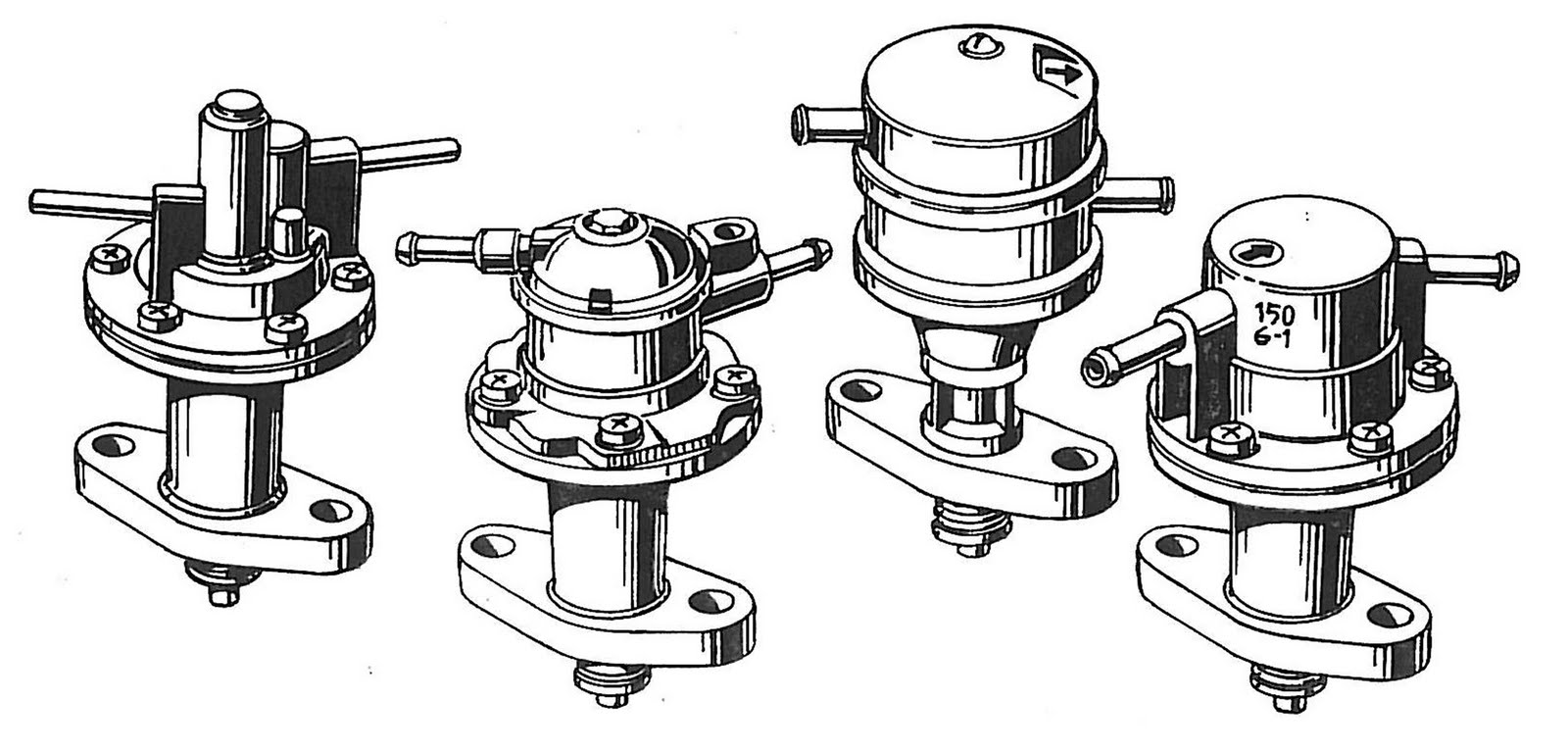 SAAB JOURNAL: VINTAGE SAAB V4 FUEL PUMPS