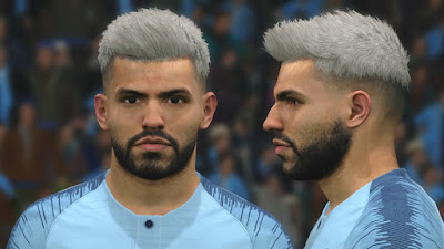 PES 2017 Faces Sergio Agüero by BenHussam