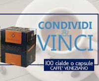 Logo Prova a vincere gratis 100 cialde o capsule Caffè Veneziano