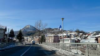 With the rental car to Sarajevo