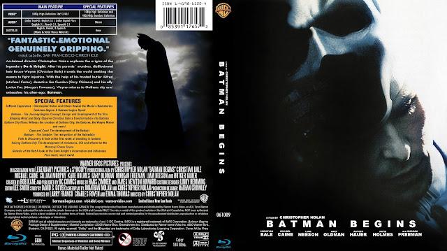 Batman Begins Bluray Cover