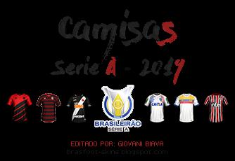 Pack Camisas Fifa Style Brasfoot 2019 - Serie A - Brasileirão 2019