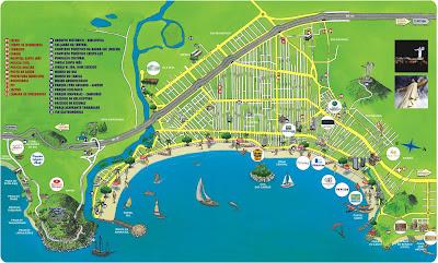Mapa turístico de Balneário Camburiú