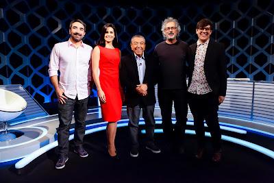 Marcelo, Débora, Mauricio, Caco e Felipe (Crédito: Gabriel Cardoso/SBT)