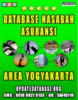 Jual Database Nasabah Asuransi Yogyakarta