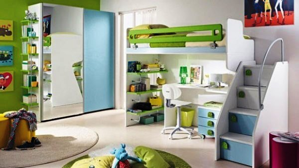 50 Desain Kamar Tidur Anak Perempuan Minimalis Warna Hijau Disain