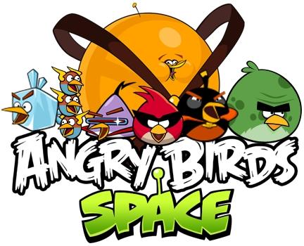 La Web Angry Birds: El logo de Angry Birds Space para Imprimir