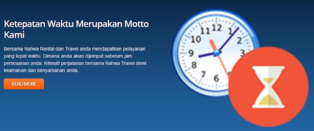 Kedatangan Sopir Tepat Waktu di Rental Mobil Malang di Nahwa.co.id Aja