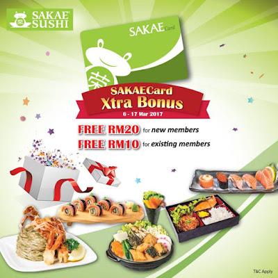 Sakae Sushi Malaysia Card Member Free e-Voucher & Points