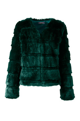 green/ emerald faux fur jacket/coat