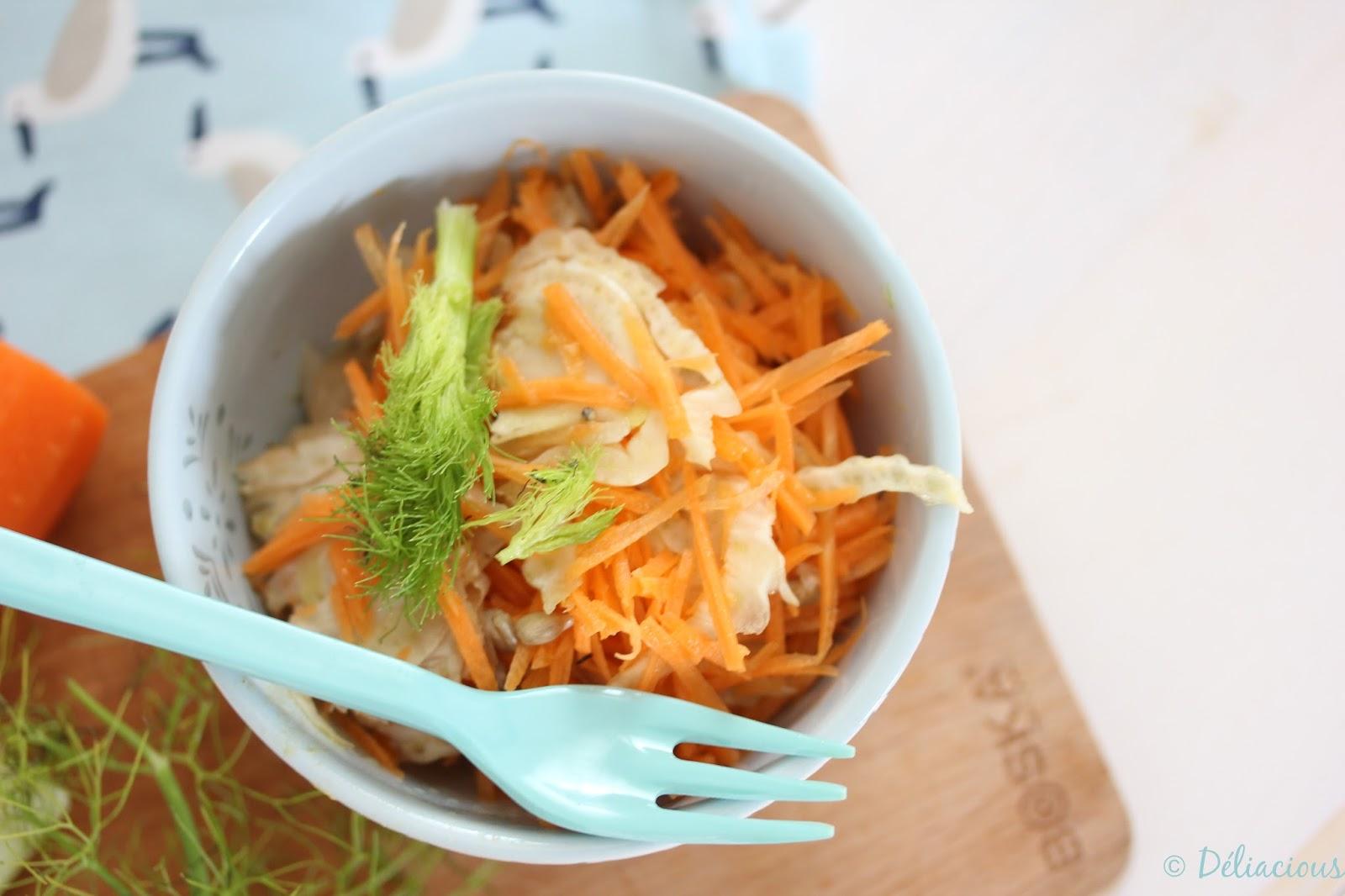 salade de cru fenouil et carottes avec leur vinaigrette l 39 orange deliacious. Black Bedroom Furniture Sets. Home Design Ideas