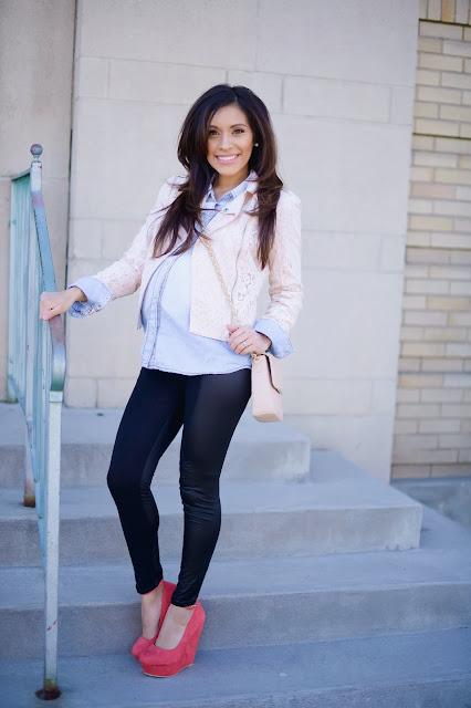 modne stylizacje w ciąży blog
