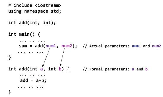 C++ Functions, C++ Function Types, C++ Function Overloading, C++ Default Argument, C++ Storage Class, C++ Recursion, C++ Return Reference