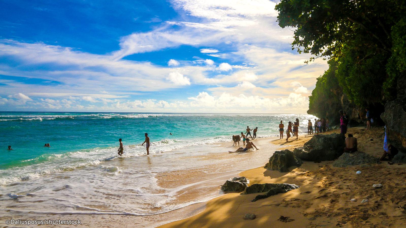 Green Bowl Beach.The Beautiful Green Bowl Beach Bali