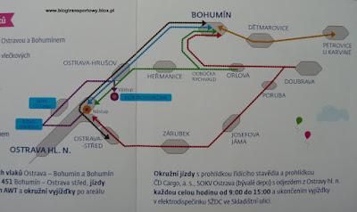 Schemat tras pociągów
