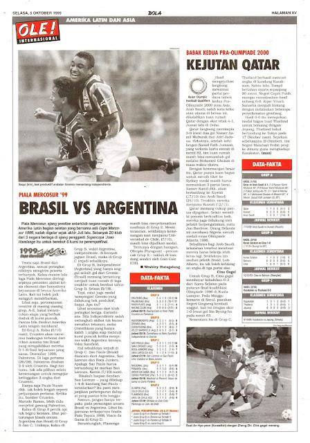 MERCOSUR CUP 99 BRASIL VS ARGENTINA