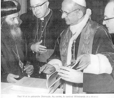 Image result for POPE PAUL VI AND OF THE POPE OF ALEXANDRIA SHENOUDA III
