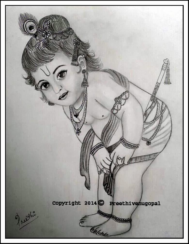 A Writer S Oasis Kanhaiyya A Pencil Sketch