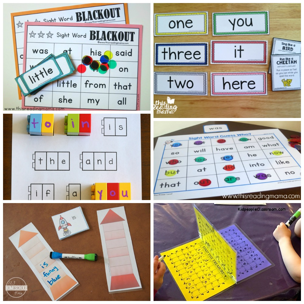 preschool sight words games kindergarten worksheets and 30 kindergarten sight 862