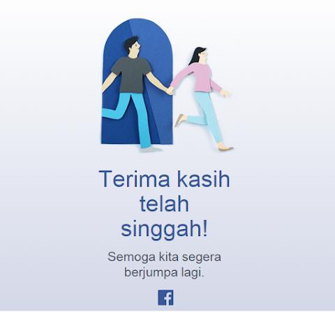 Facebook ternyata bisa salah menyapa tamunya