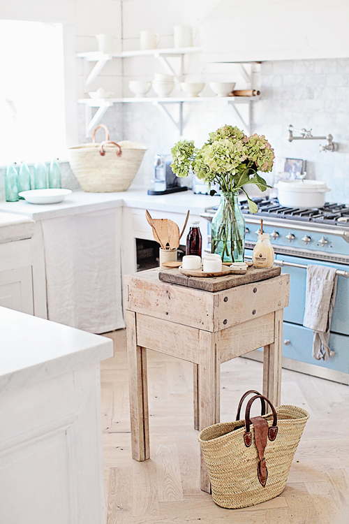 Lovely Breathtaking light filled French farmhouse kitchen of Maria of Dreamy Whites found on Hello Lovely