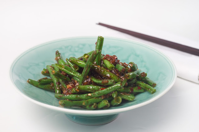 Stir fry french beans with Shiitake mushrooms