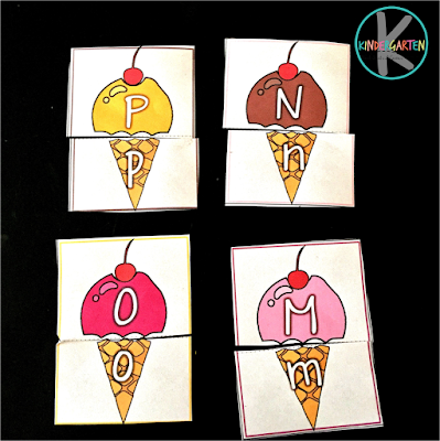 hands on educational ice cream activity for preschool, prek, kindergarten