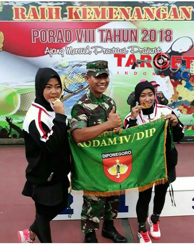 Atlet Tenis Lapangan Kodim 0718 Pati Berhasil Meraih Gelar Juara I Piala KASAD 2018