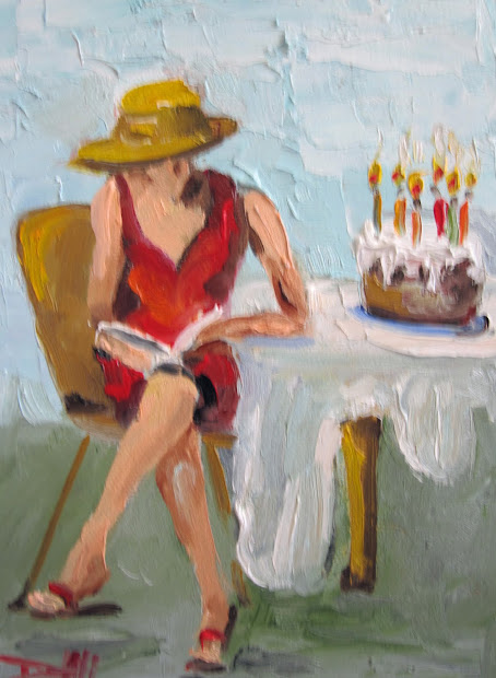 Happy Birthday Cake Painting